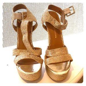 Chinese Laundry Gold Lame Pumps